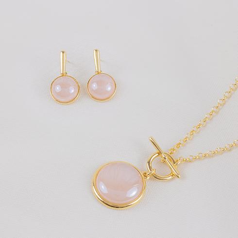 4506-conjunto-colar-brinco-pedra-natural-rosa-banhada-ouro-18k
